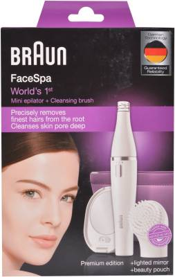 Braun Facial Face-830 Epilator For Women (White)