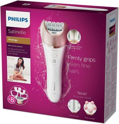 Philips BRE650/00 Satinelle Advanced Wet and Dry Epilator For Wom...