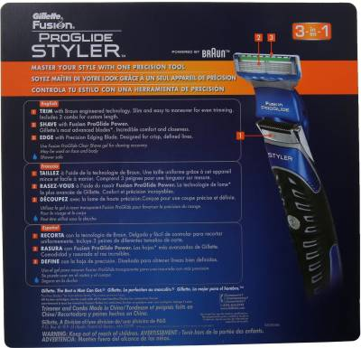 gillette NA Fusion Proglide Styler Trimmer For Men