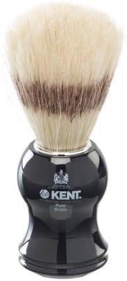 Kent Black Socket Pure White Bristle Badger Effect  Shaving Brush