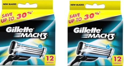 Gillette Mach 3 Cartridges pack of 2(Pack of 2)