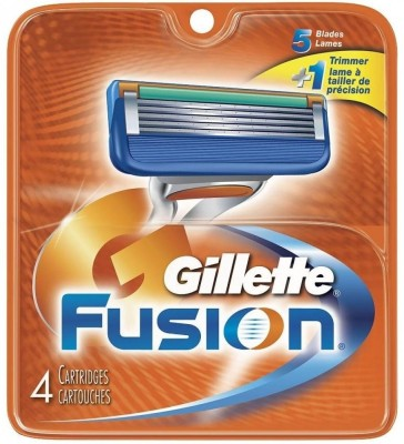 Gillette Fusion Replacement Cartridges - 4  available at flipkart for Rs.820