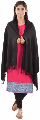 Shaan-e-Kashmir Silk Solid Women's Shawl(Black)  available at flipkart for Rs.799