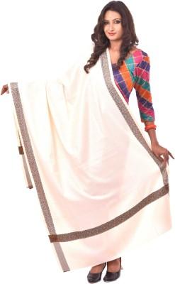 Weavers Villa Polycotton Self Design Women Shawl(White, Grey, Orange)