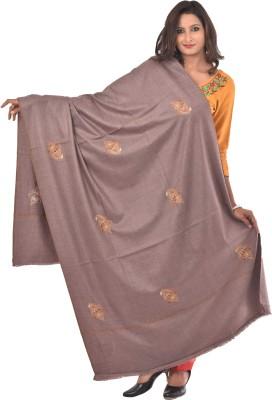 Weavers Villa Wool Embroidered Women's Shawl(Grey)
