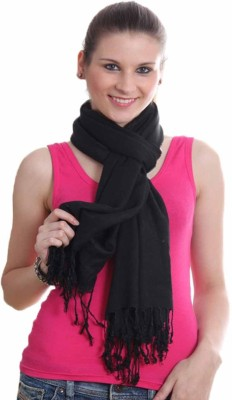 Shaan-e-Kashmir Viscose Solid Women's Shawl(Black)  available at flipkart for Rs.799