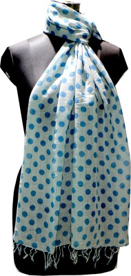 Selfi Wear Wool Polka Print Women's Shawl(Blue)