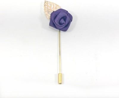 Kidofash PURPLE-KFLOWER-KLEAF Brass Sliding Pin Shirt Stud(Purple)