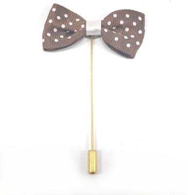 Kidofash POLKA-KBOW-KBROWN Brass Sliding Pin Shirt Stud(Brown)