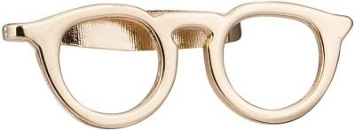 Kidofash SPECS-KGOLD Brass Sliding Pin Shirt Stud(Gold)