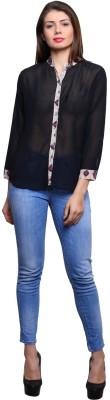 KMB ROYAL Women Solid Formal Black Shirt