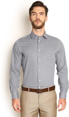Blackberrys Men's Self Design Formal Grey Shirt at flipkart