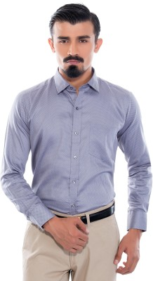 Helg Men's Printed Formal Grey Shirt