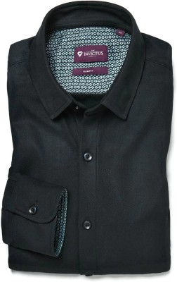 Invictus Men's Self Design Formal Dark Blue Shirt