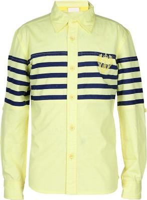 UFO Boys Striped Casual Yellow Shirt at flipkart