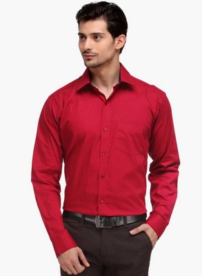 La Polo Men's Solid Wedding Red Shirt