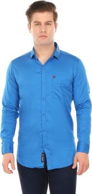 Club Martin Men's Solid Formal Blue Shirt