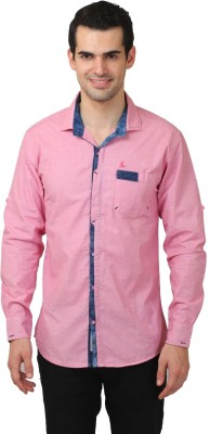 Club Martin Men's Solid Casual Pink Shirt