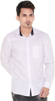 Old Khaki Men's Self Design Casual Regular Shirt