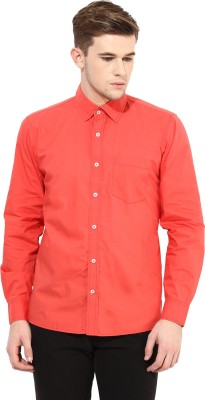 Yuvi Men's Solid Casual Red Shirt