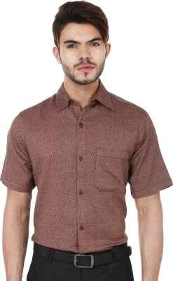 Reevolution Men's Woven Casual Brown, Black Shirt