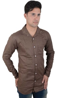 Red Rezz Men's Solid Casual Brown Shirt