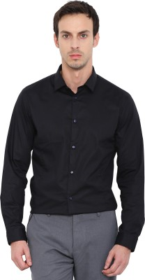 Arrow New York Men Solid Casual Black Shirt at flipkart