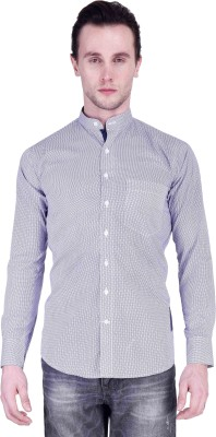 Protext Men's Printed Formal Blue Shirt at flipkart