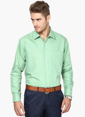 La Polo Men's Solid Wedding Green Shirt