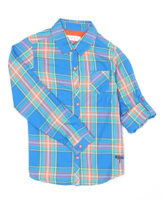 US Polo Kids Girls Checkered Casual Multicolor Shirt  available at flipkart for Rs.599