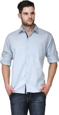 TSX Men's Solid Casual Light Blue Shirt