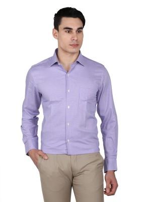 Arrow Men Checkered Casual Purple Shirt at flipkart