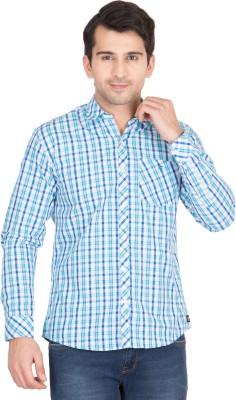 John Hupper Men's Checkered Casual Button Down Shirt