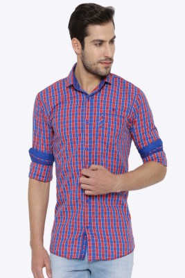 Fifty Two Men's Checkered Casual Blue, Red Shirt