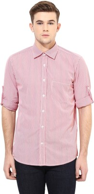Yuvi Men's Striped Casual Red, White Shirt