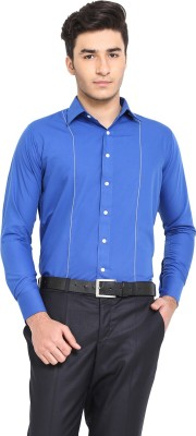 Protext Men Solid Casual Blue Shirt at flipkart