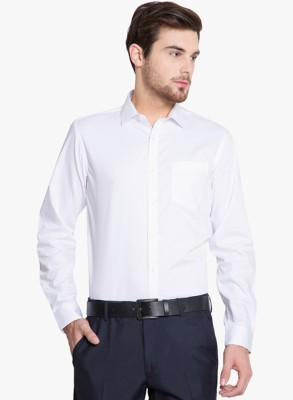 La Polo Men's Solid Party White Shirt