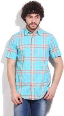 Gant Men's Checkered Casual Blue, Pink Shirt