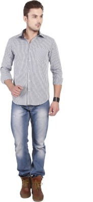 Yuvi Men's Checkered Casual Shirt
