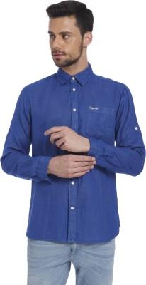 Jack & Jones Men Solid Casual Blue Shirt at flipkart