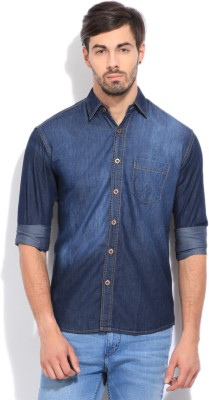 High Star Men's Solid Casual Blue Shirt at flipkart