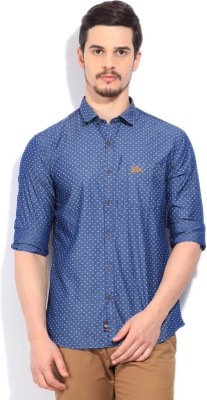 U.S. Polo Assn Men Printed Casual Dark Blue Shirt at flipkart