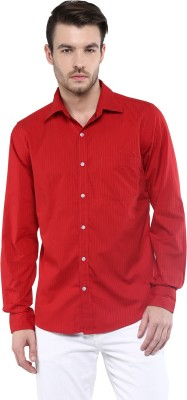 Speak Men Striped Casual Red Shirt at flipkart