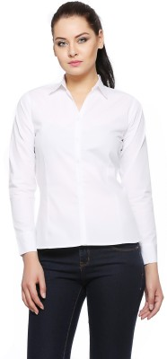 Heather Hues Women Solid Casual White Shirt