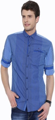 Fifty Two Men's Striped Casual Blue Shirt