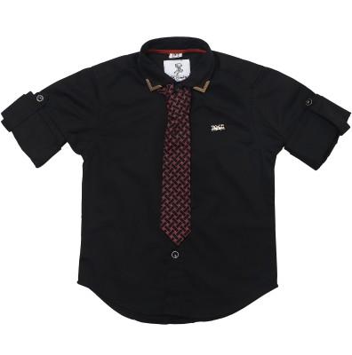 OKS mini Baby Boy's Graphic Print Casual Multicolor Shirt