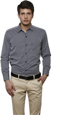 Helg Men's Checkered Formal Linen Black Shirt