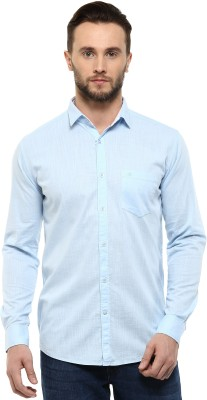 Speak Men's Solid Casual Blue Shirt at flipkart
