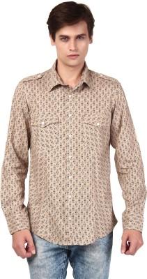 Oxolloxo Men Printed Casual Beige Shirt at flipkart