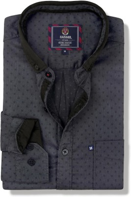 Harvard Men Self Design Casual Grey Shirt at flipkart
